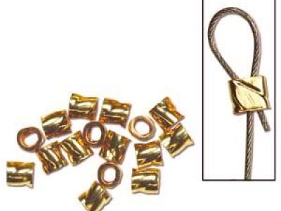 Кримп декоративный Gold Filled (Голд Филд). Размер д/ш- 2х2 мм. Вн. отверстие.-1.3 мм. Покрытие- золото (до 10 %). Могут выполнять роль трубочек-распорок.