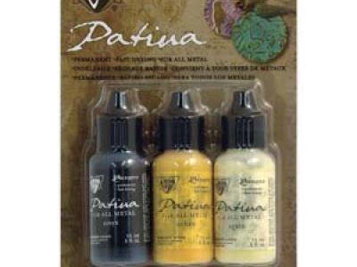 """Патина """"Vintaj Patinas"""" непрозрачные, износостойкие, быстрого высыхания краски для покрытия металла. Они создают красивые и долговечные эффекты патины."""